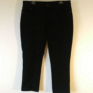 NYDJ Black Tapered Jeans Leggings Size 16